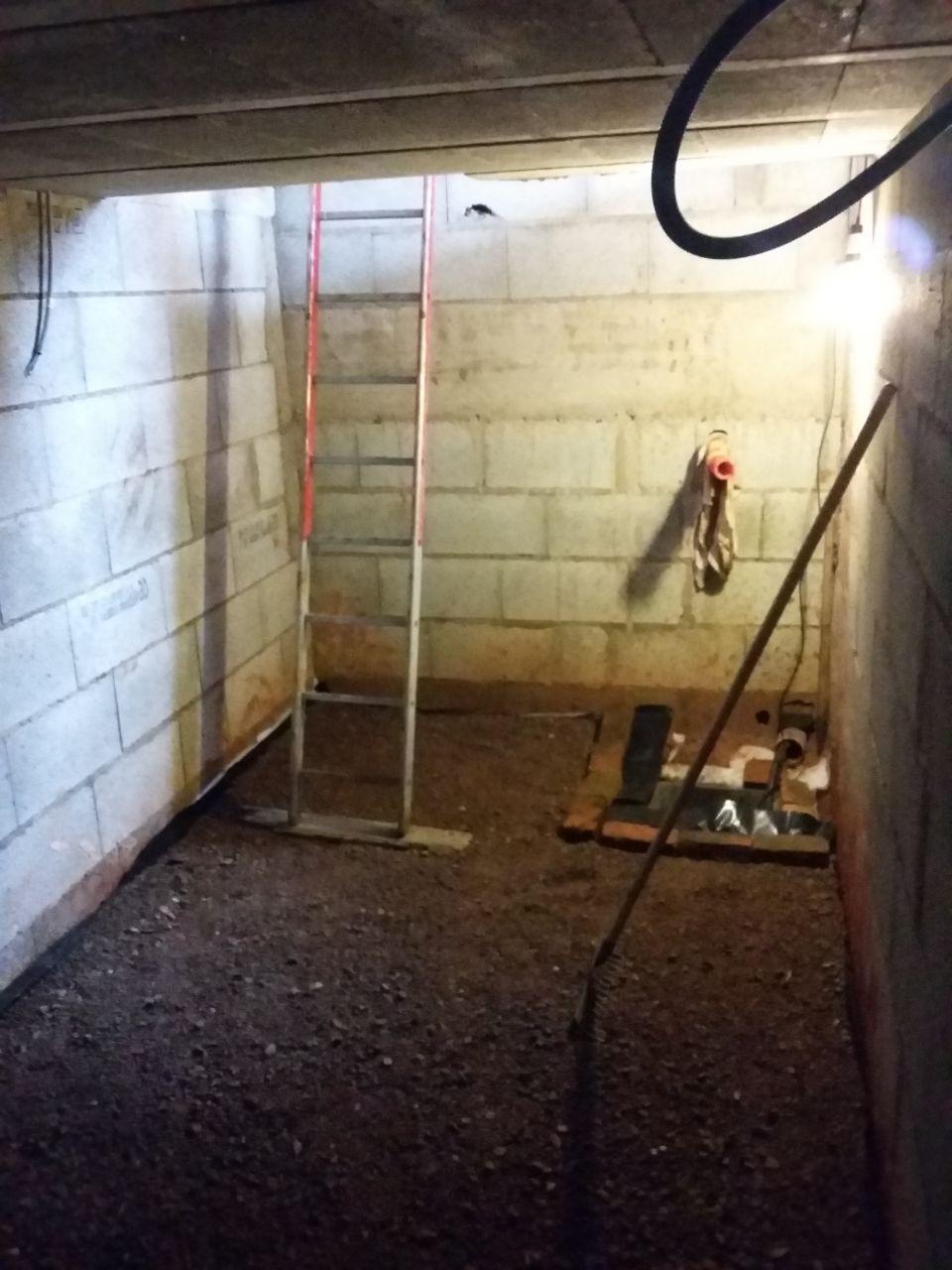 Drainage et aménagement du sol de la cave