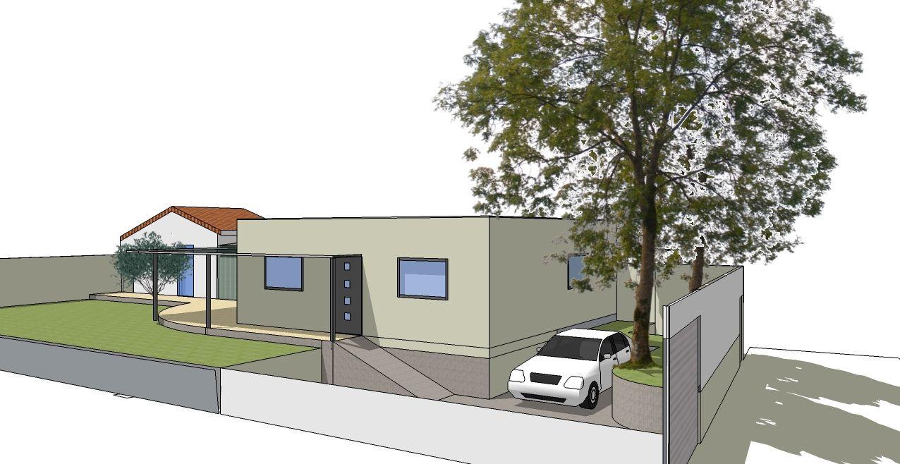 Petite mise à jour des façades. Les menuiseries bois alu sont choisies. Bonne nouvelle: le format nous permet de n'avoir qu'un seul vantail d'où une économie bienvenue et plus de clair de jour dans la cuisine et les chambres