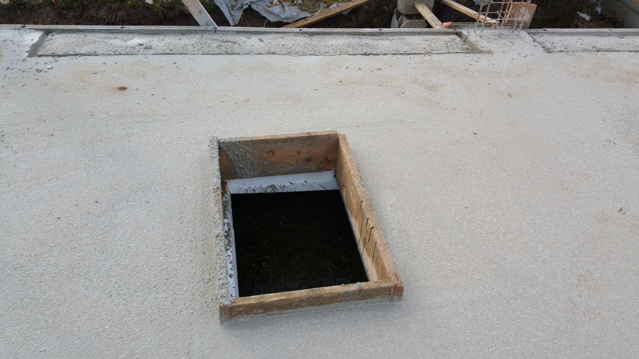 L'accès au vide sanitaire dans le futur garage