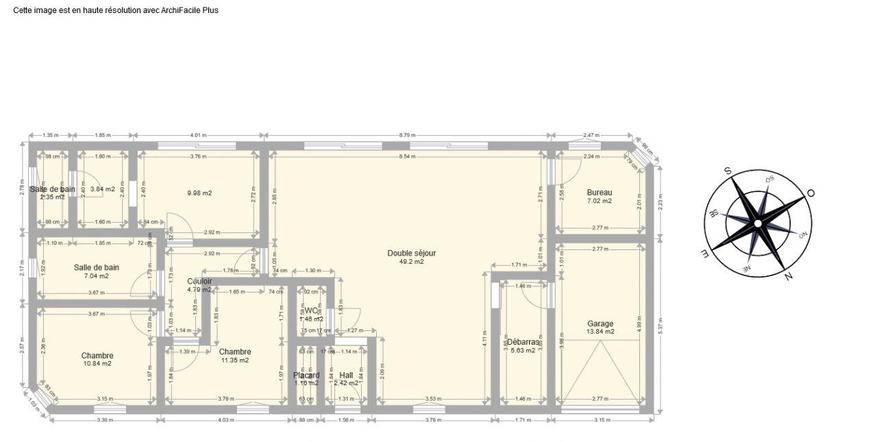 plan de maison 115 m2