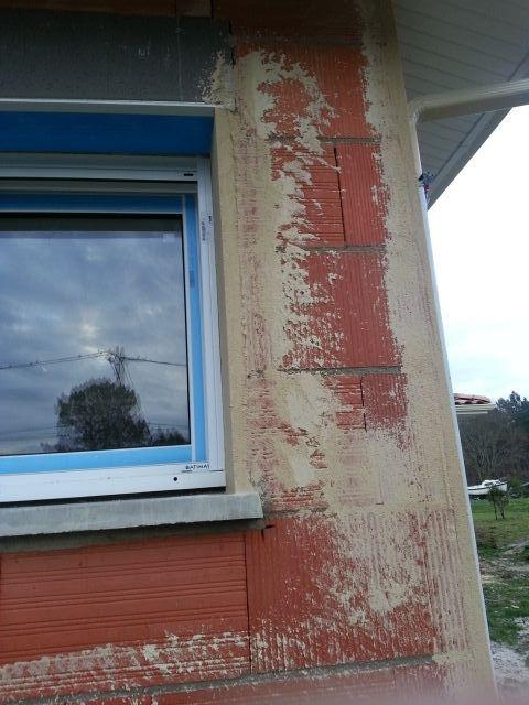 Epaisseur du crépis vu d'une fenêtre