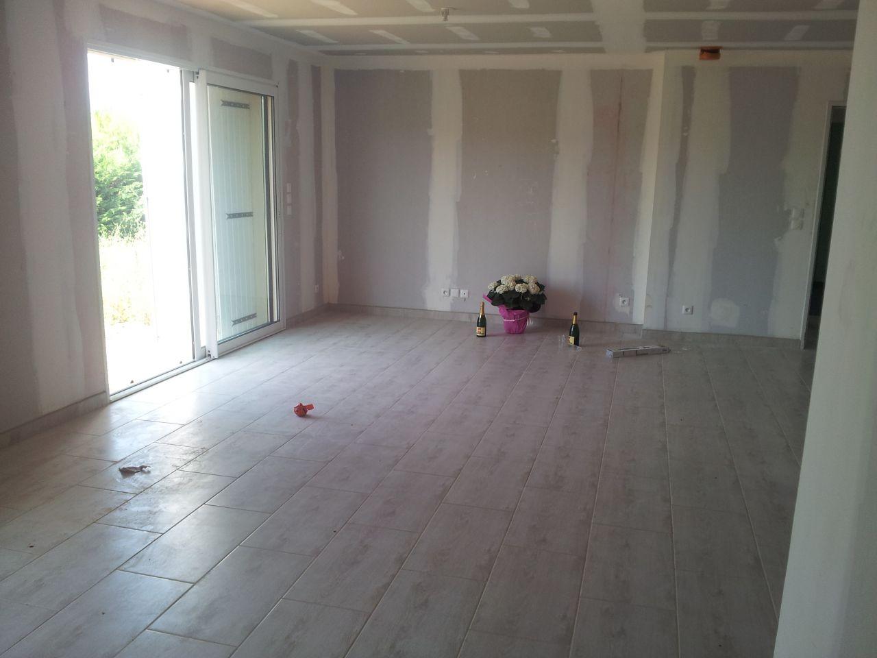 Ca y est, la maison est enfin à nous! C'est parti pour les peintures et montage des meubles! Le début de la réelle aventure! <br />  <br /> La villa provencale nous a offert une belle plante et deux bouteilles de champagne (dont une ouverte avec le commercial et le conducteur des travaux)