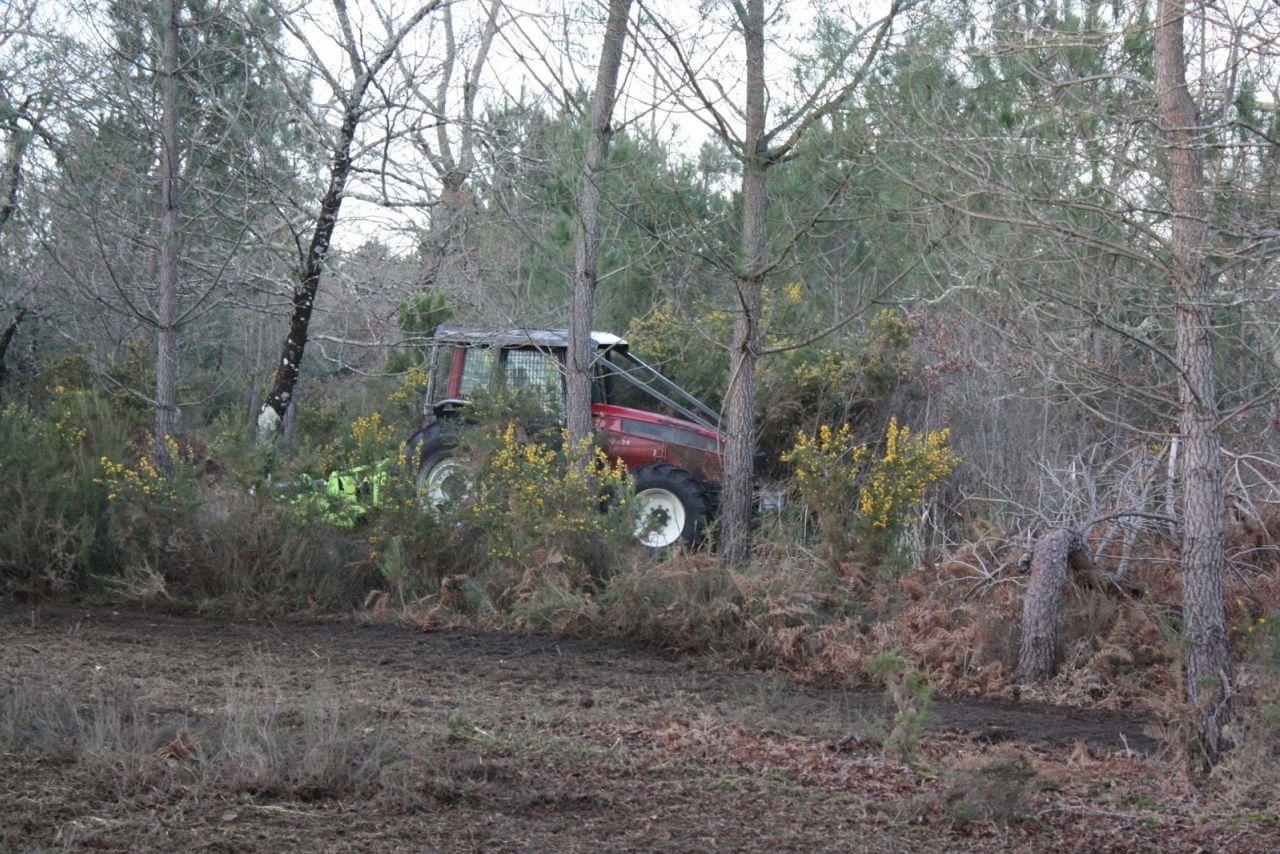 Le tracteur à l'oeuvre