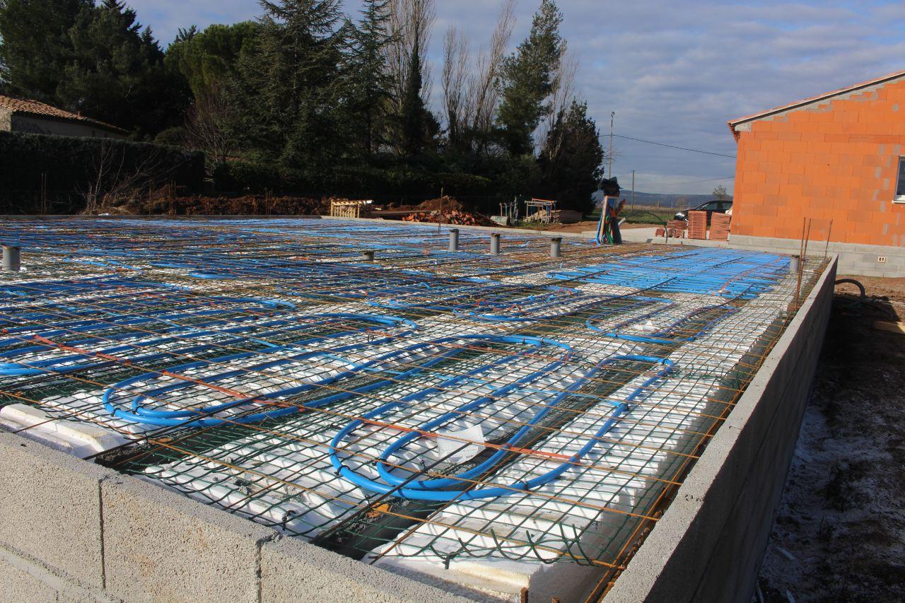 Les fondations suite avancement du vide sanitaire le for Coulage plancher