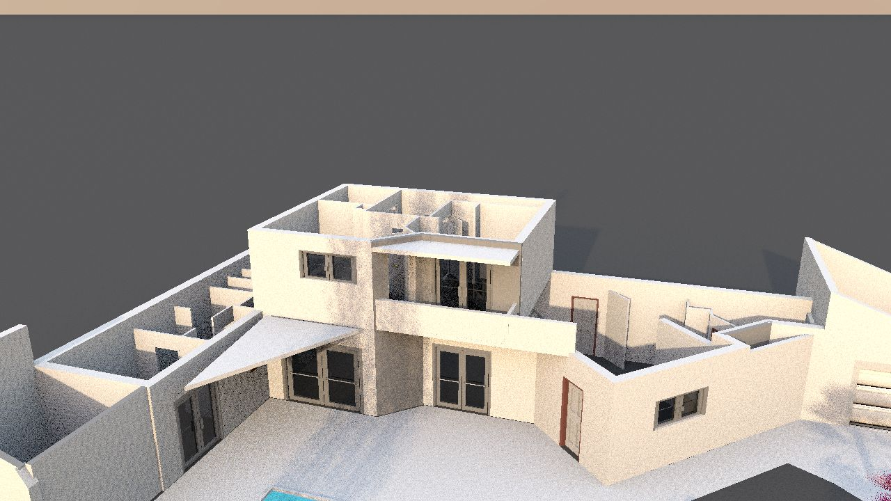 Simulation ombres portées facade SUD