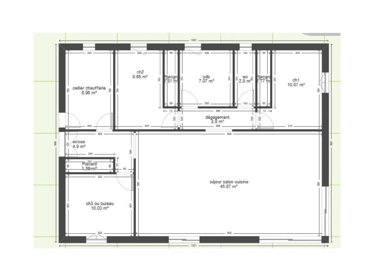 avis plan maison plain pied entr e ouest nouveau plan 57 messages. Black Bedroom Furniture Sets. Home Design Ideas