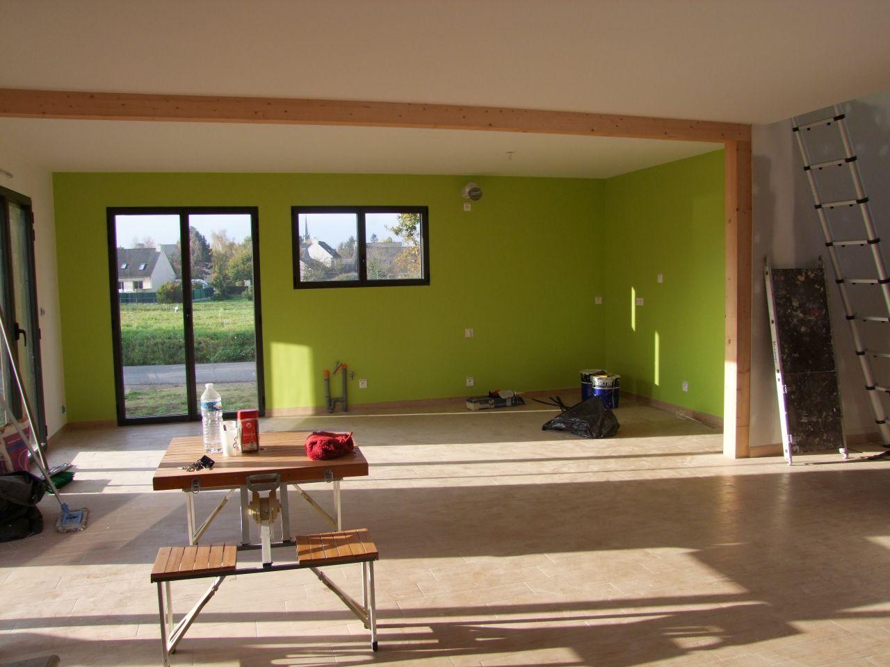 cuisine peinture en vert
