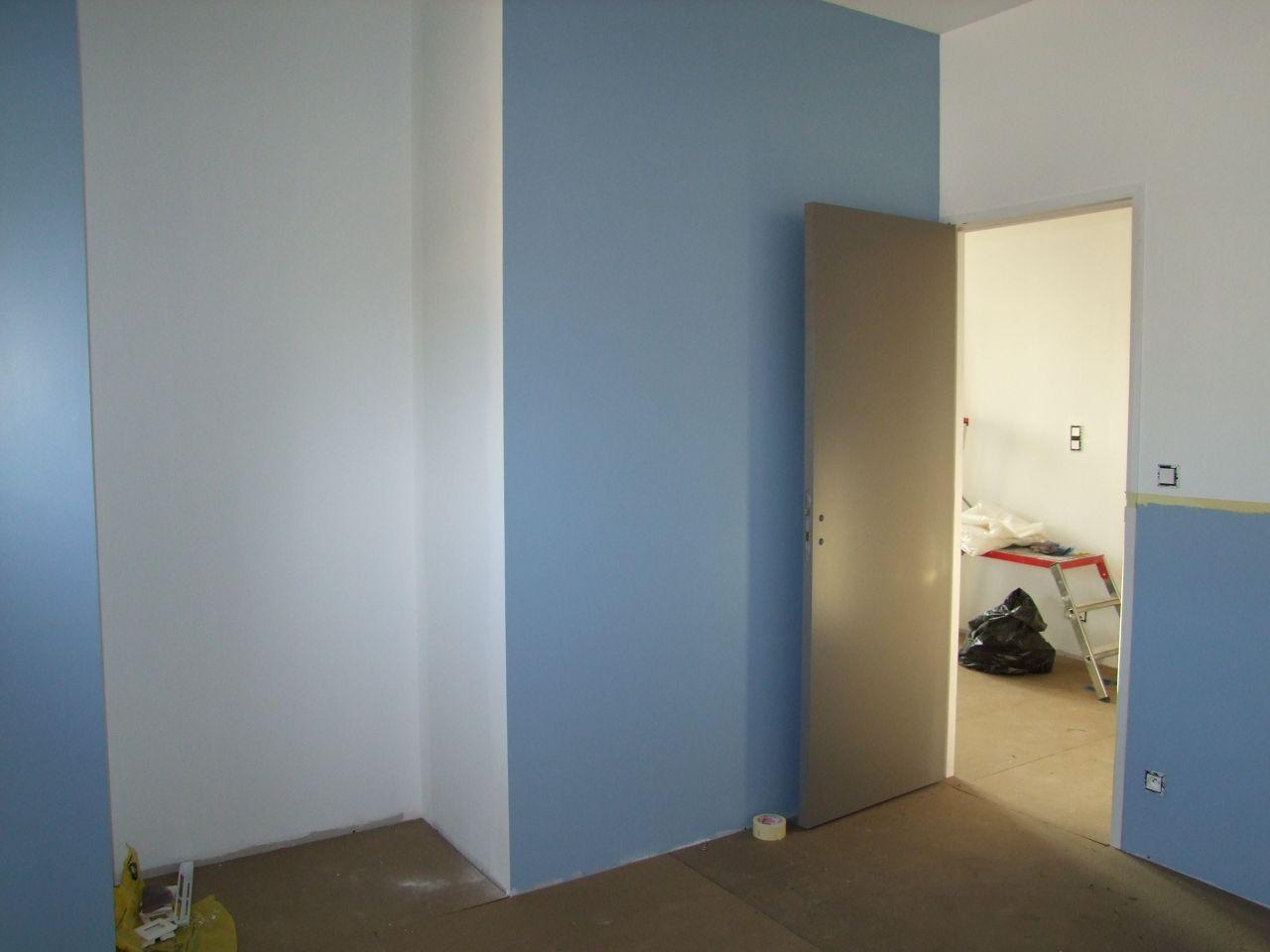 chambre peinture en bleu