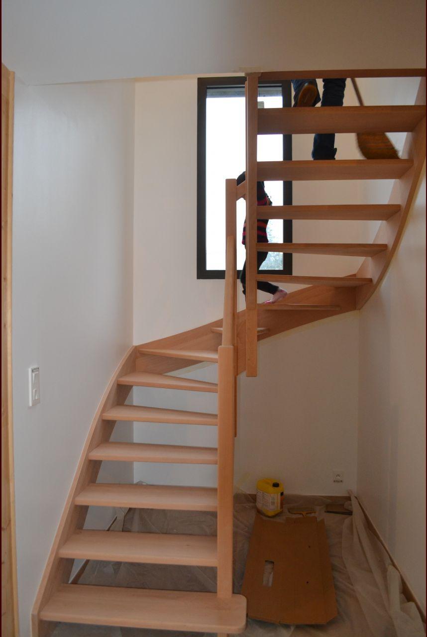 Escalier après vitrification