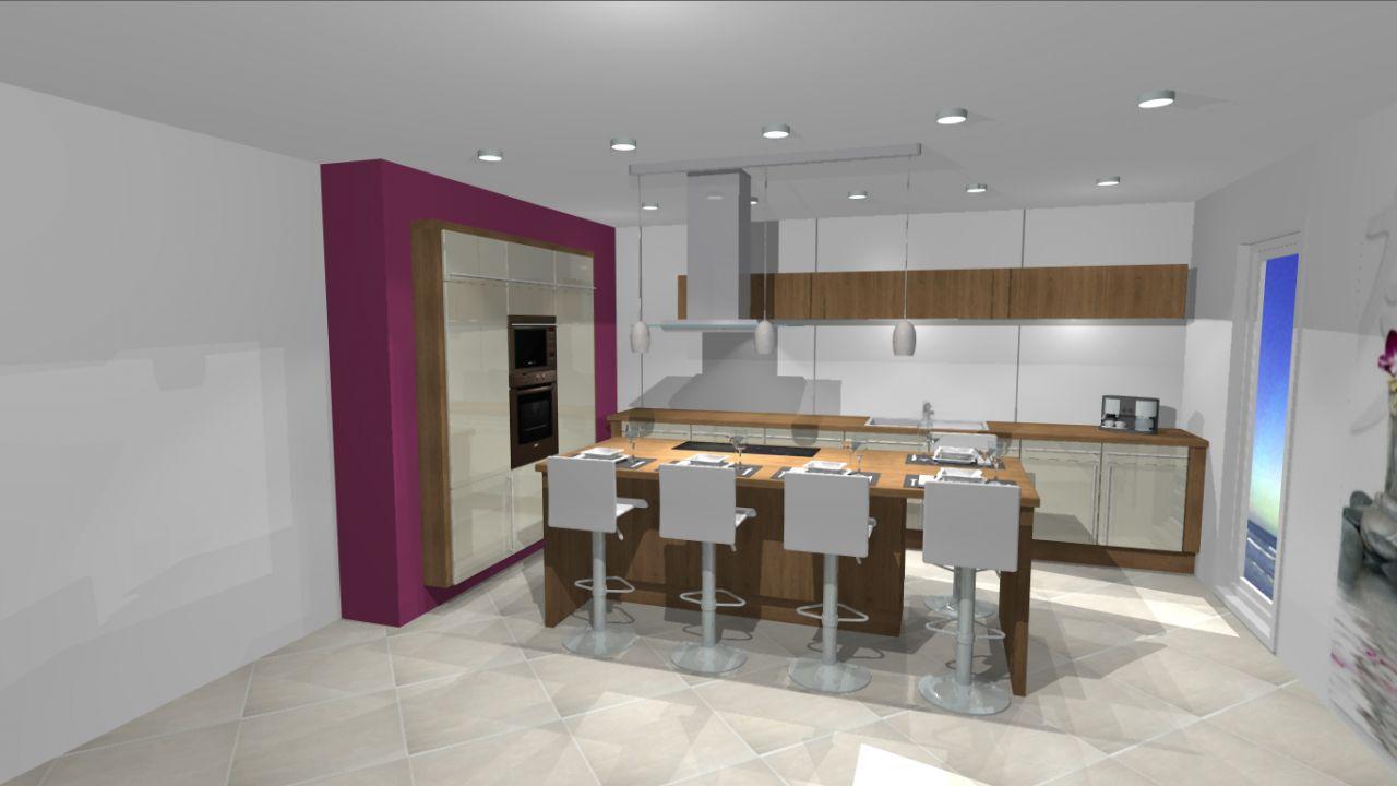 Mur des armoires violet