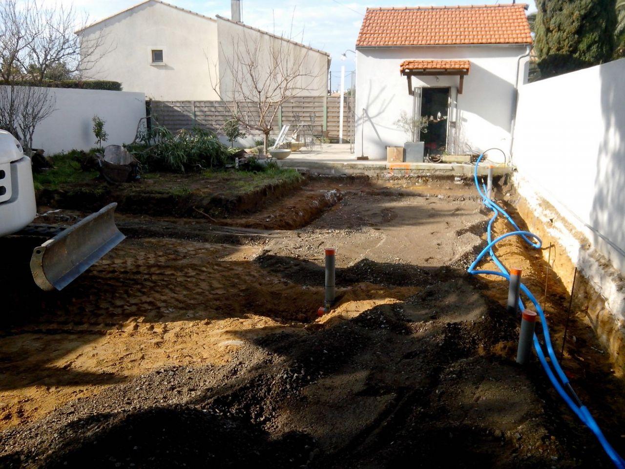 Démarrage terrassement: eaux et eaux usées