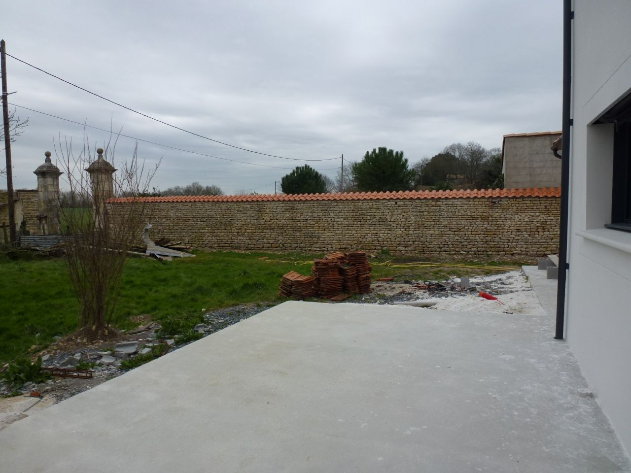 Réfection mur coté Ouest