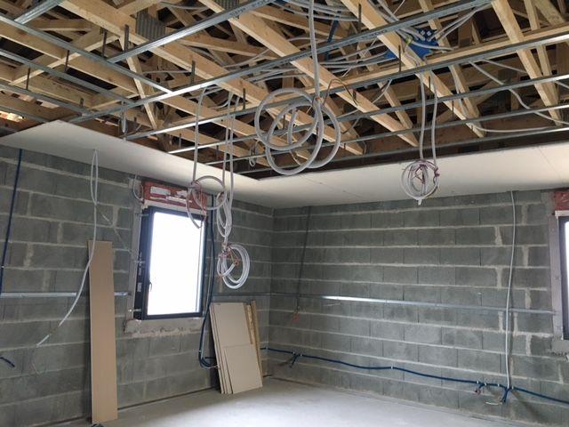 placo du plafond en cours