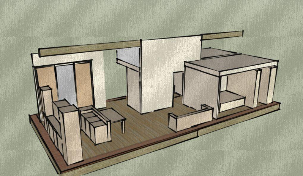 Vue 3D de l'intérieur de la maison