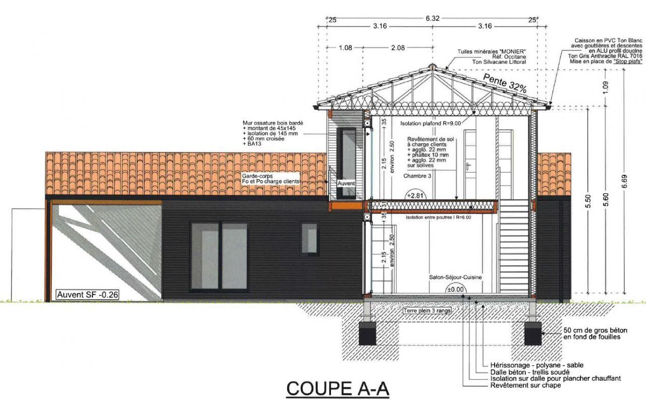 Elevation Plan Coupe : Plans en coupe ca prend forme elevation mur rdc