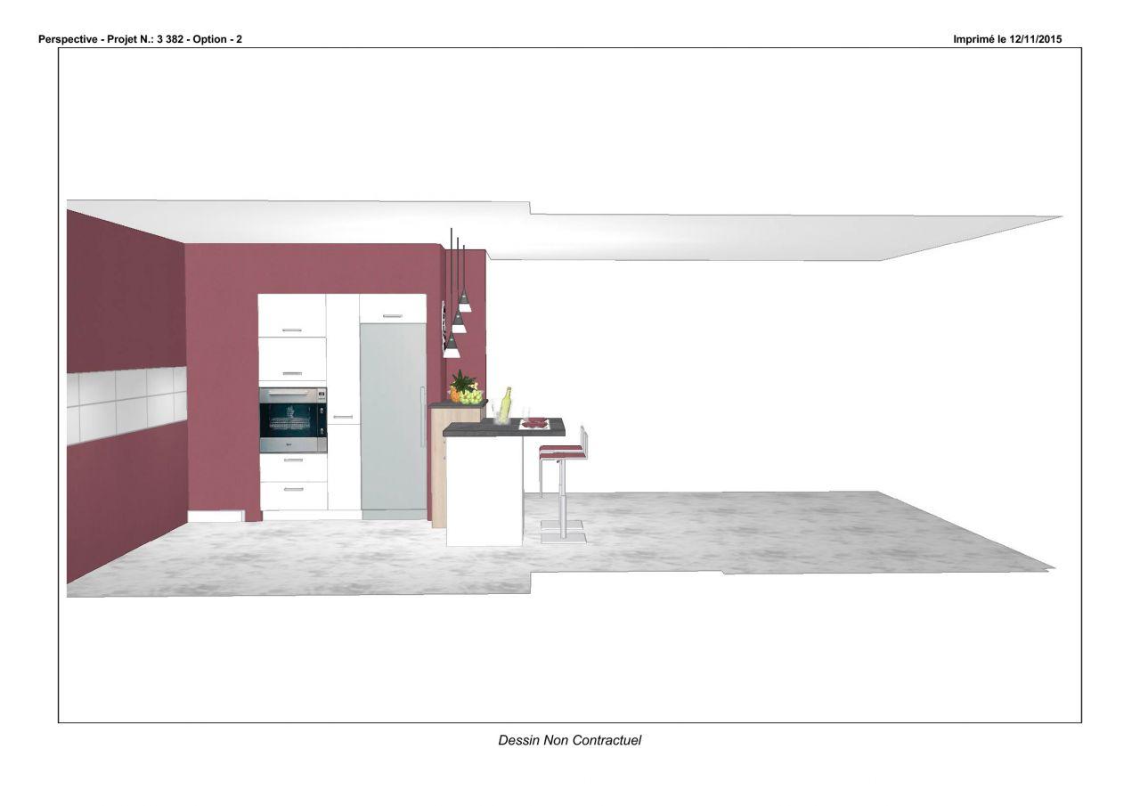 plan cuisine - etage - carrelage sdb, westhouse marmoutier (bas rhin)