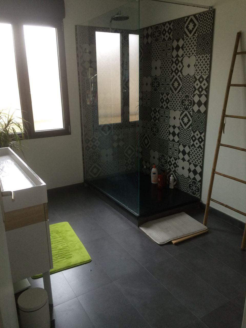 Salle de bain - salle d'eau 7.5m2 sols carrelage - Igny (Essonne - 91) - mars 2016