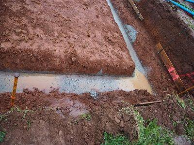 fouilles...inondées