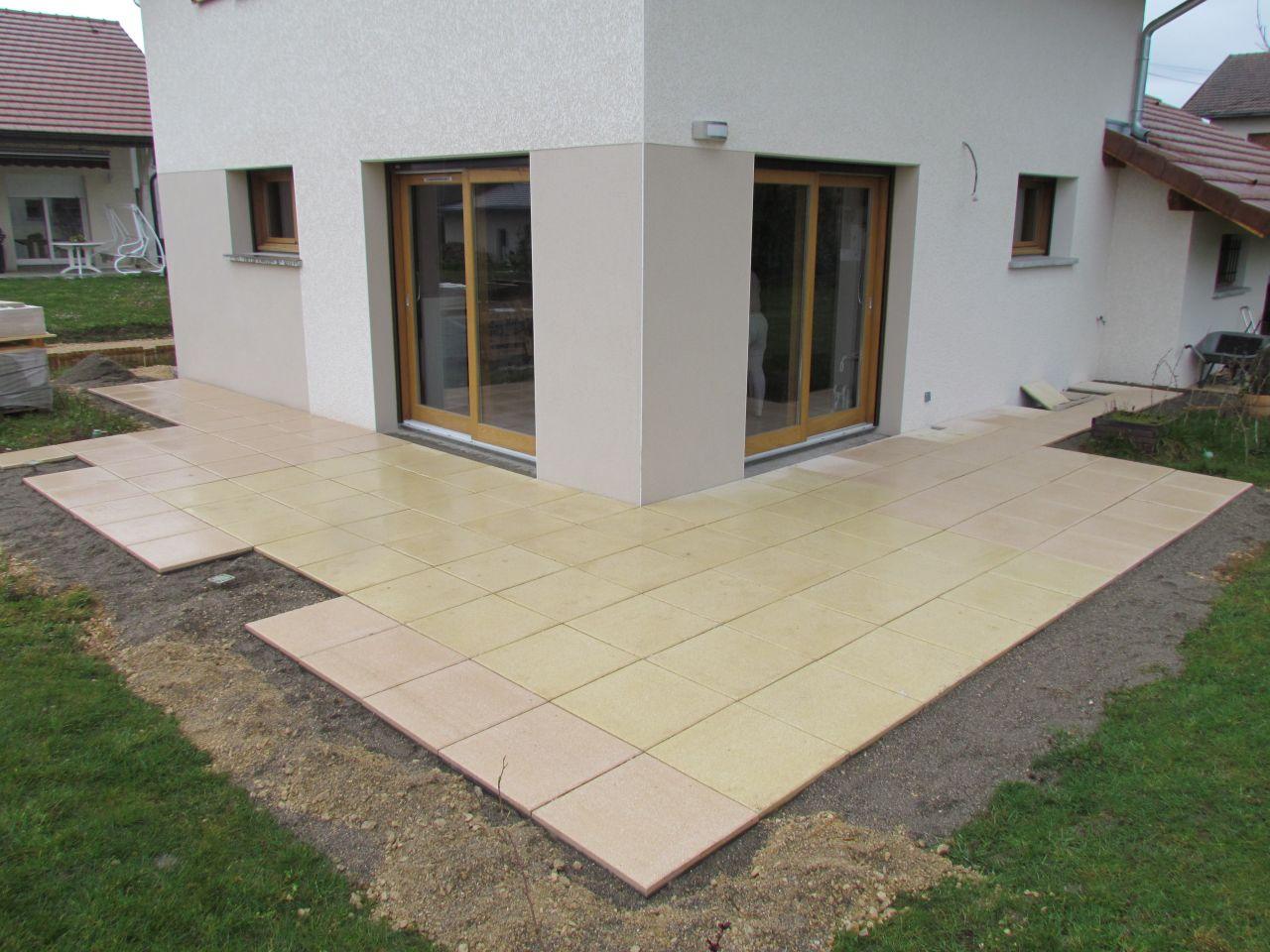 photo pose des dalles de terrasse terrasse haute savoie 74. Black Bedroom Furniture Sets. Home Design Ideas