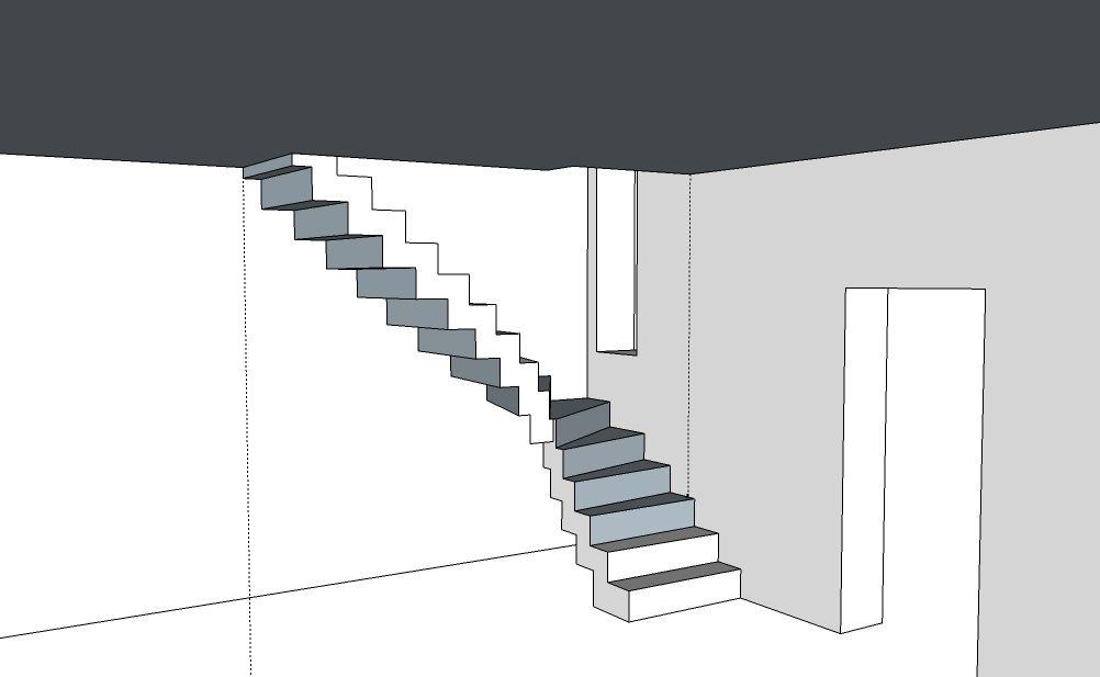 Escalier b ton cr maill re en autoconstruction principe de ferraillage - Escalier cremaillere beton ...
