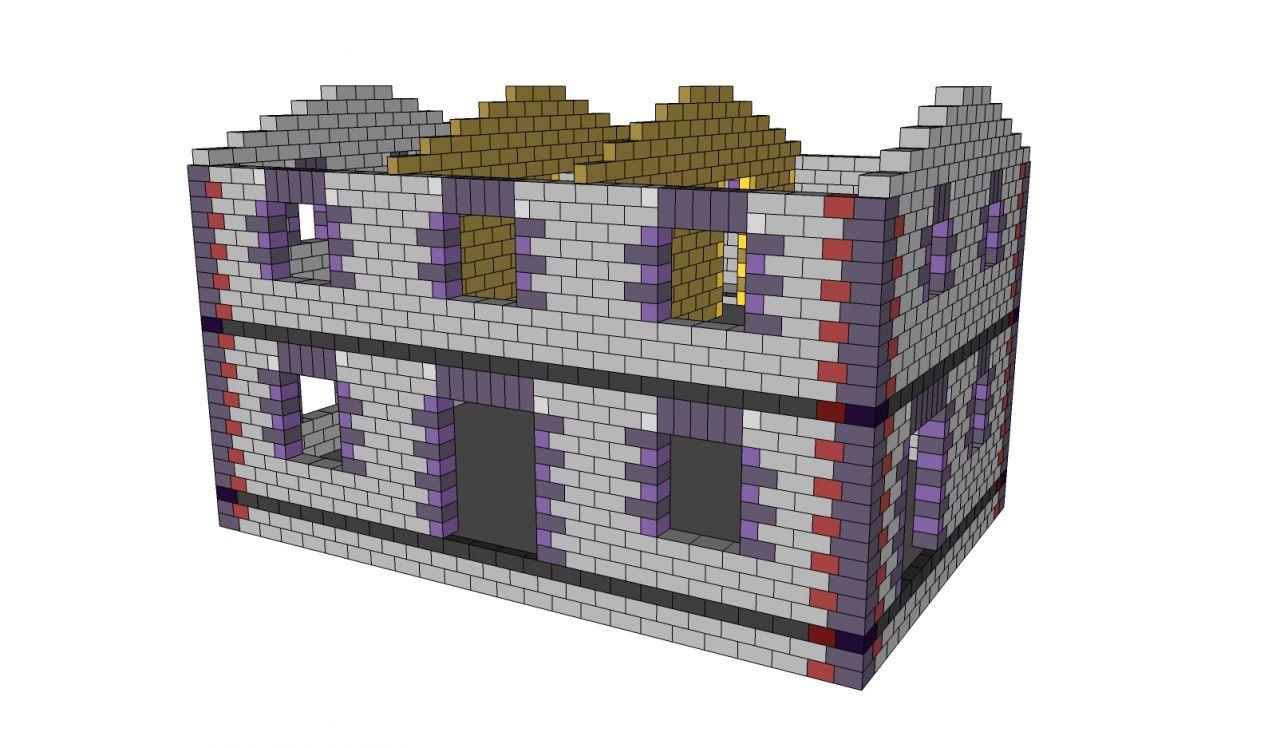 La maison en 3D calpinée avec des blocs ISOTEX