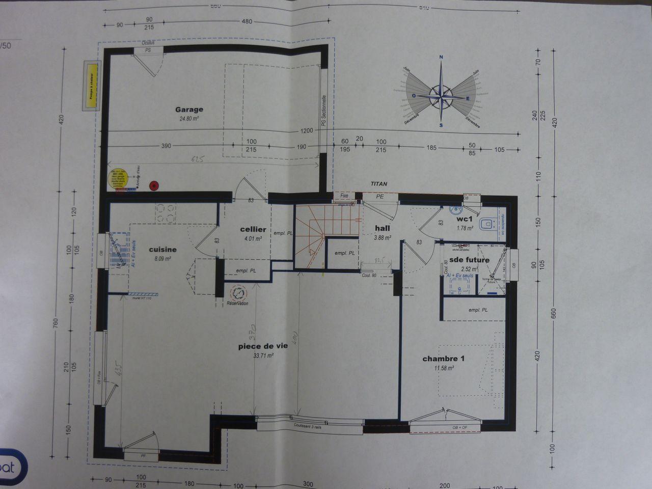 Avis plan de maison contemporaine tage 107m2 55 messages for Plan maison sud est