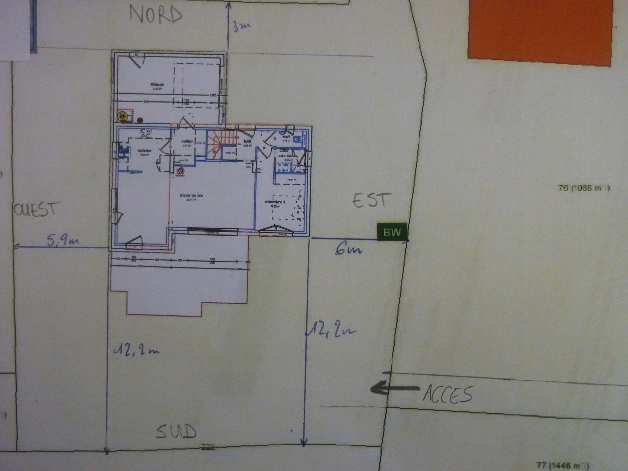 Implantation maison sur terrain