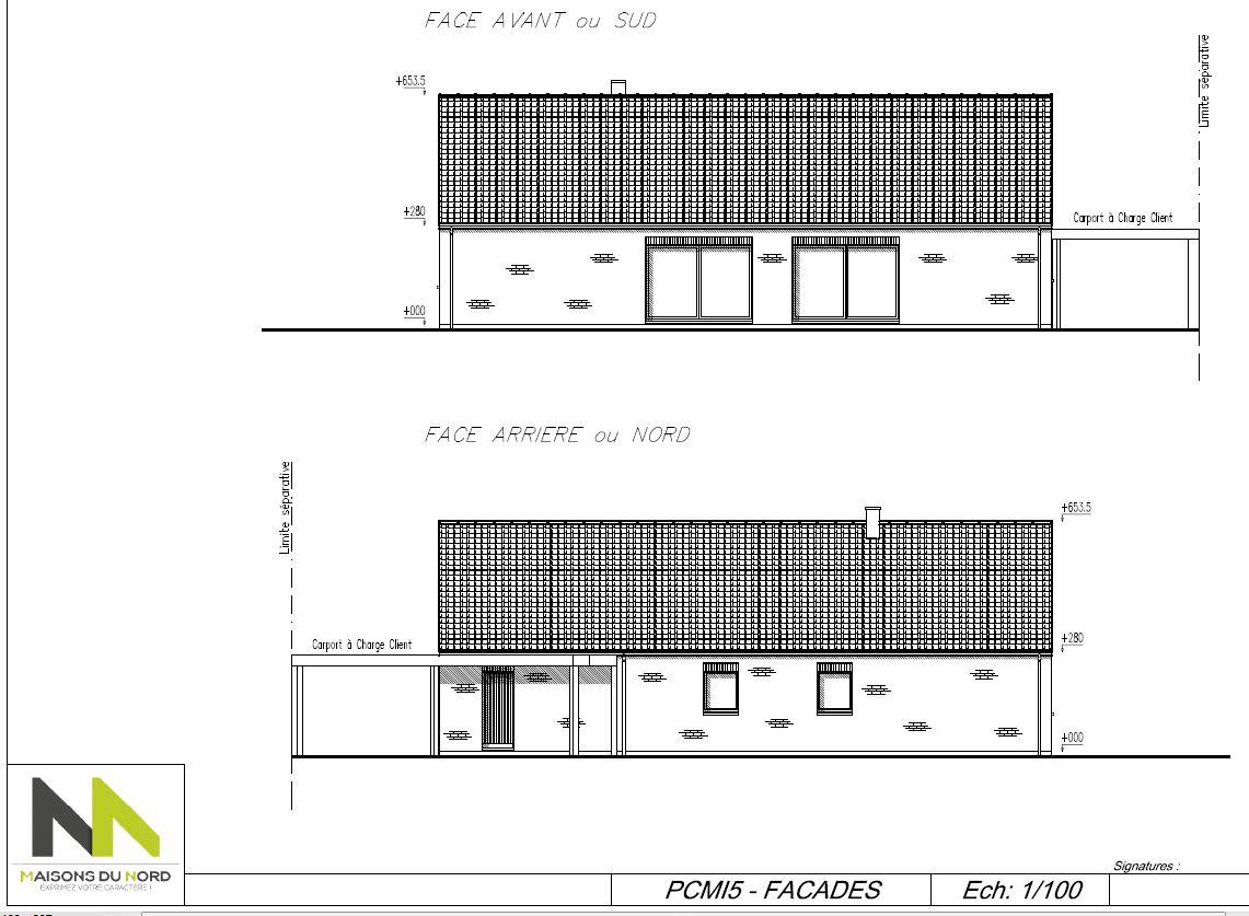 premiere facade, sud, avec 2 baies coulissantes 3m