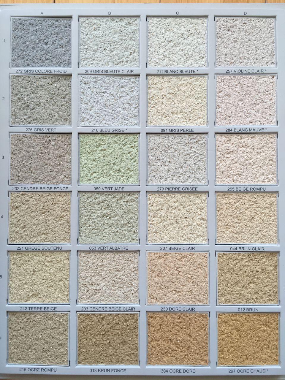 Berühmt Enduirama - aide pour choisir la couleur de votre enduit - 587  MI04