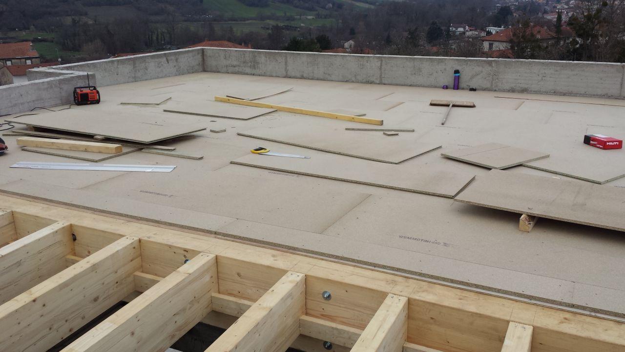 Plancher toit terrasse (dalles 22 mm)
