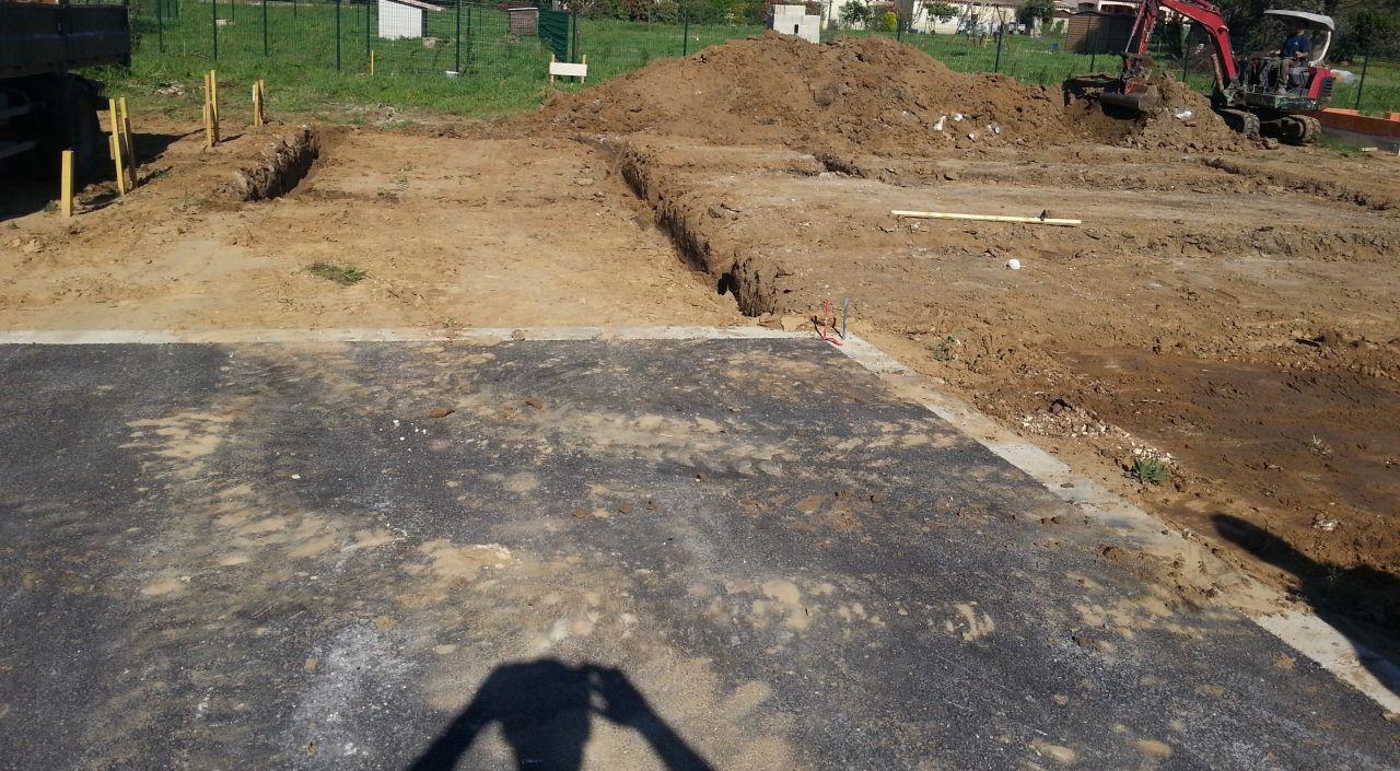 Décaissement   fouilles
