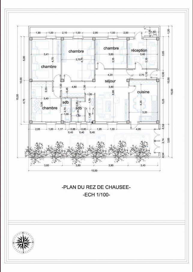 Voilà le plan proposé par un ami architecte.