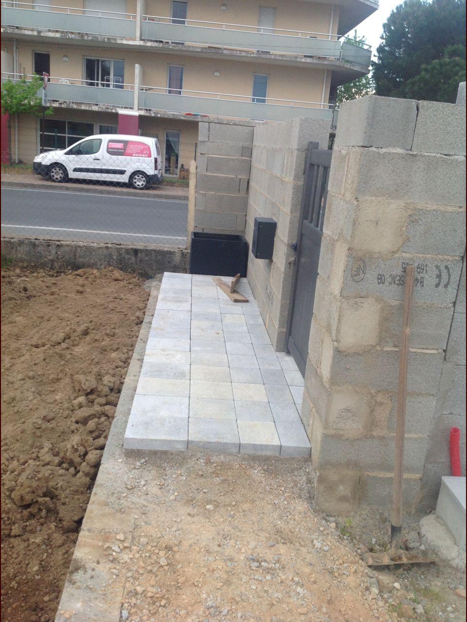Notre terrasse en pavés