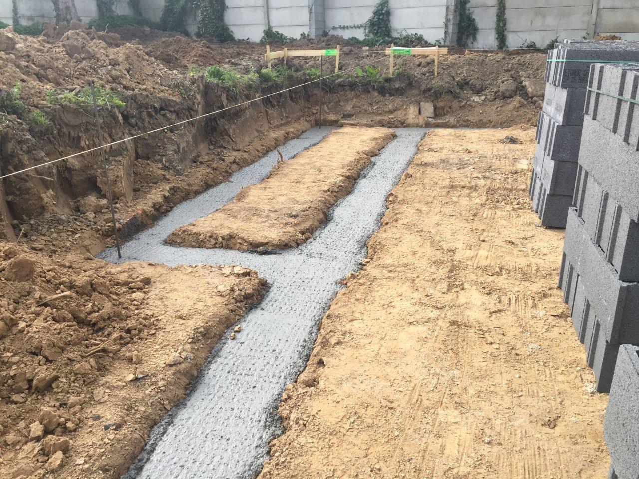 Préparation et coulage des fondations
