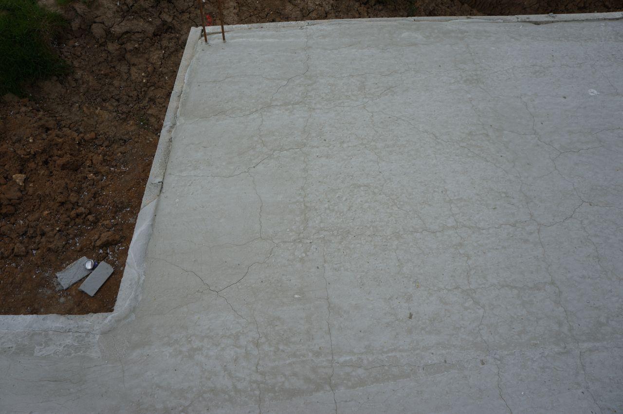 Photo fissures dalle b ton fondations vide sanitaire dalle oise 60 - Dalle sur vide sanitaire ...