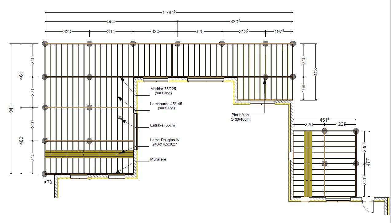 avis structure terrasse bois 110m 5 messages. Black Bedroom Furniture Sets. Home Design Ideas