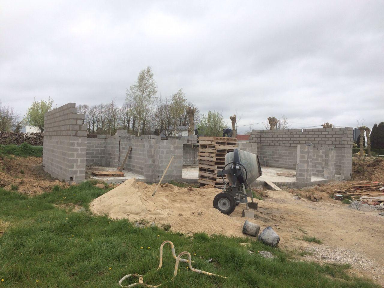 Constructions parpaing - Seine Maritime (76) - avril 2016