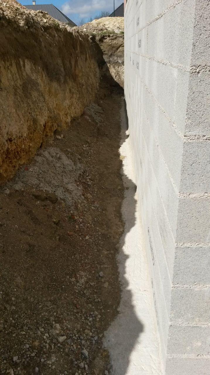 Dégagement des fondations du sous sol