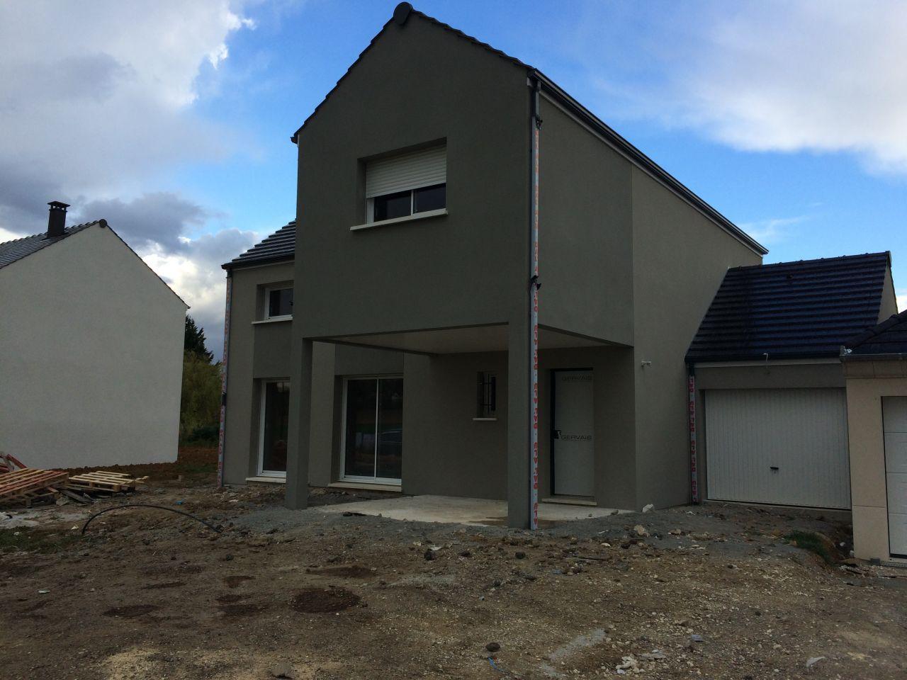 Photo cr pis termin couleur gris ouessant et gris carnac enduit cr pis facade seine et for Couleur gris zingue