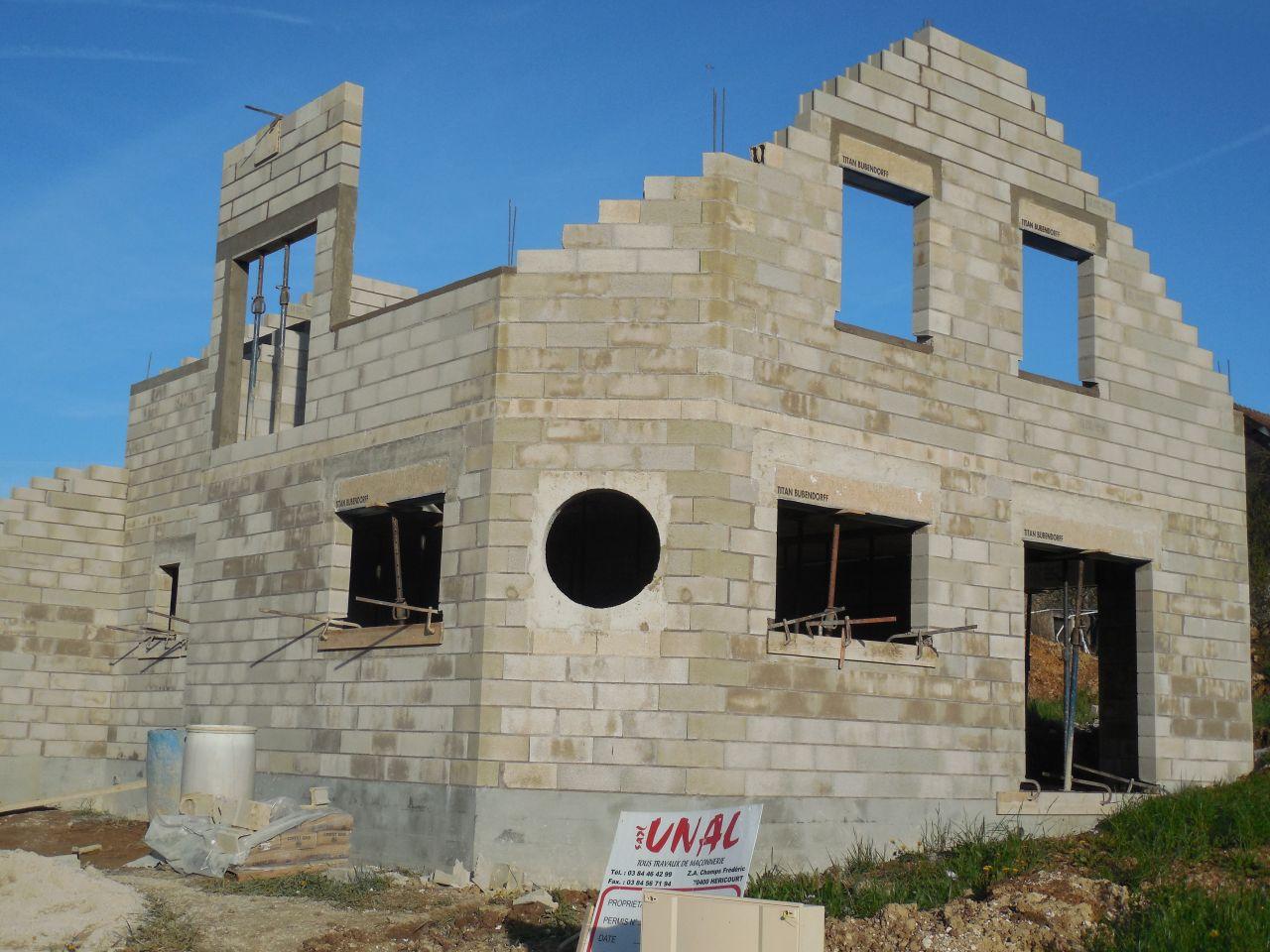 Elévation murs étage