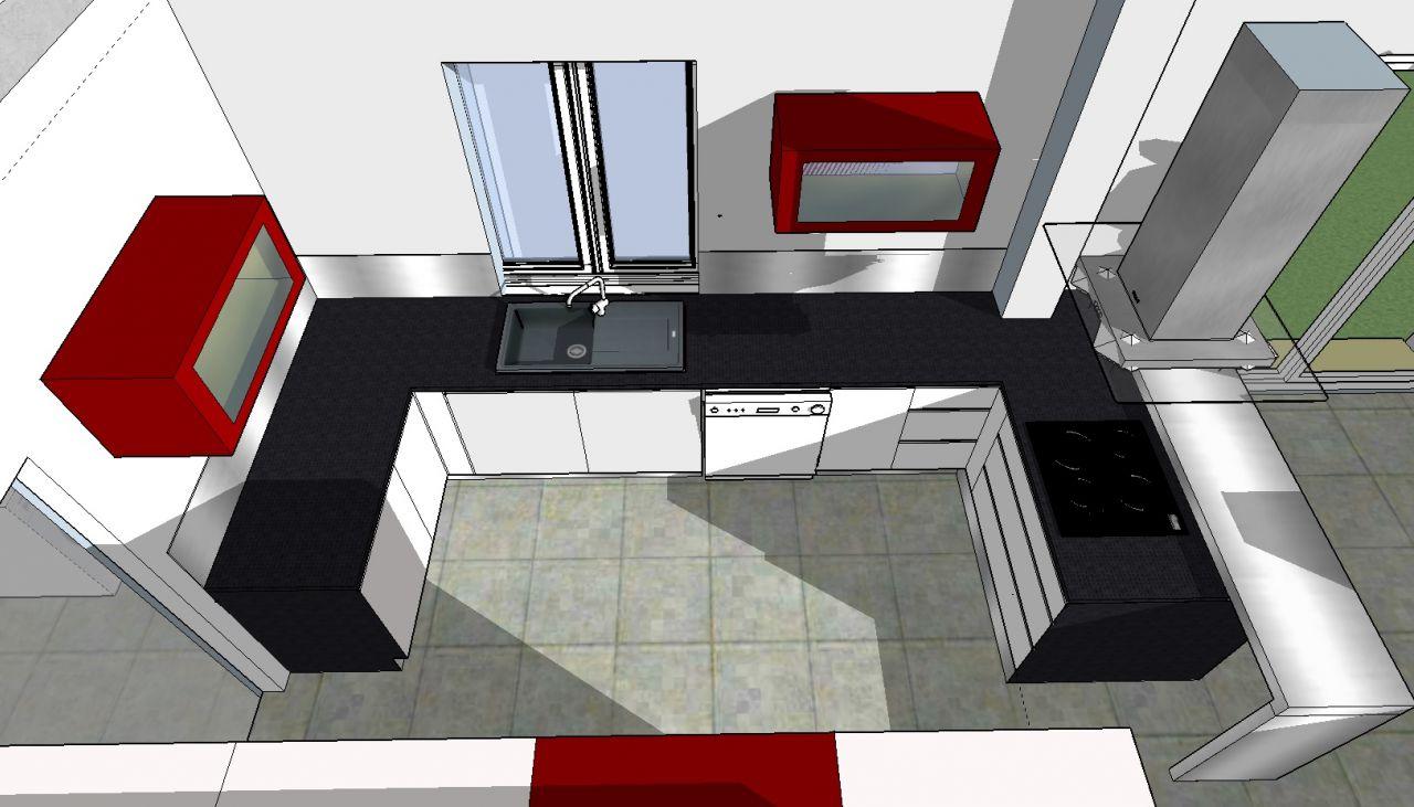 photo id e agencement cuisine id es architecture et d co. Black Bedroom Furniture Sets. Home Design Ideas