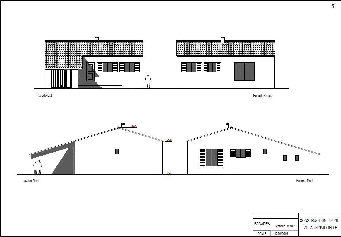 Plan des façades