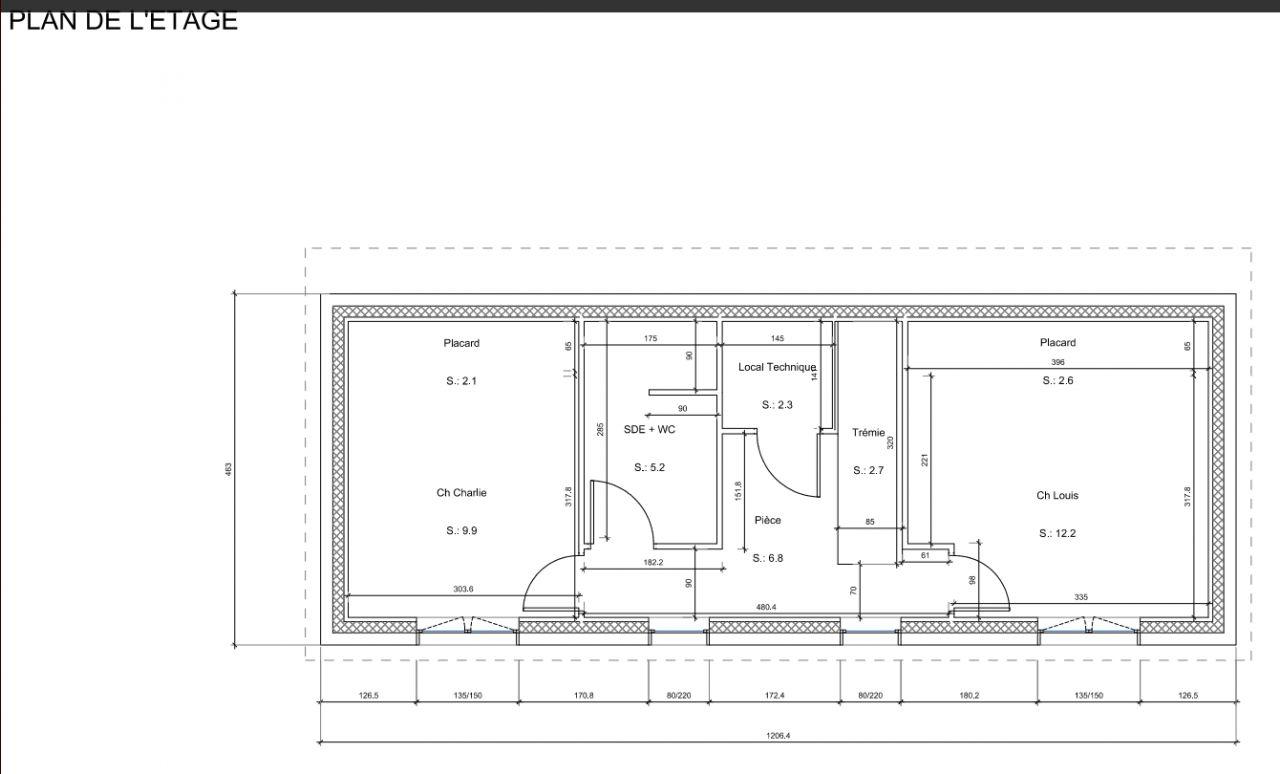 Plan du demi étage