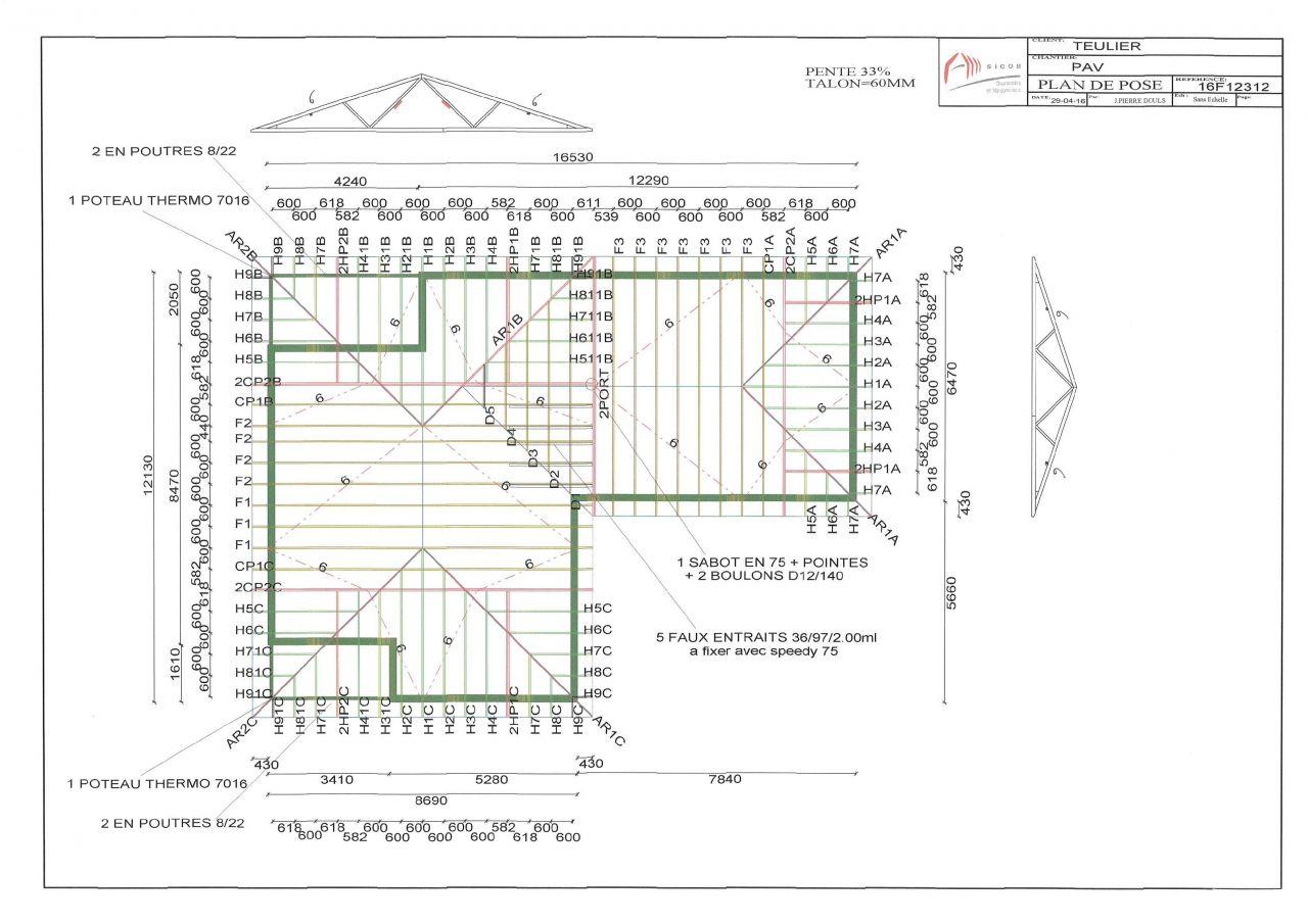 charpente plan. Black Bedroom Furniture Sets. Home Design Ideas