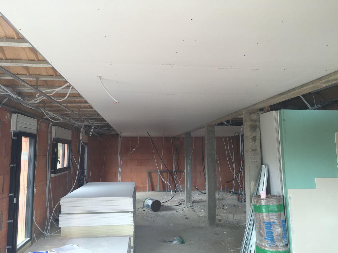 photo plafond du rdc cloisons isolation portes int rieures seine maritime 76. Black Bedroom Furniture Sets. Home Design Ideas
