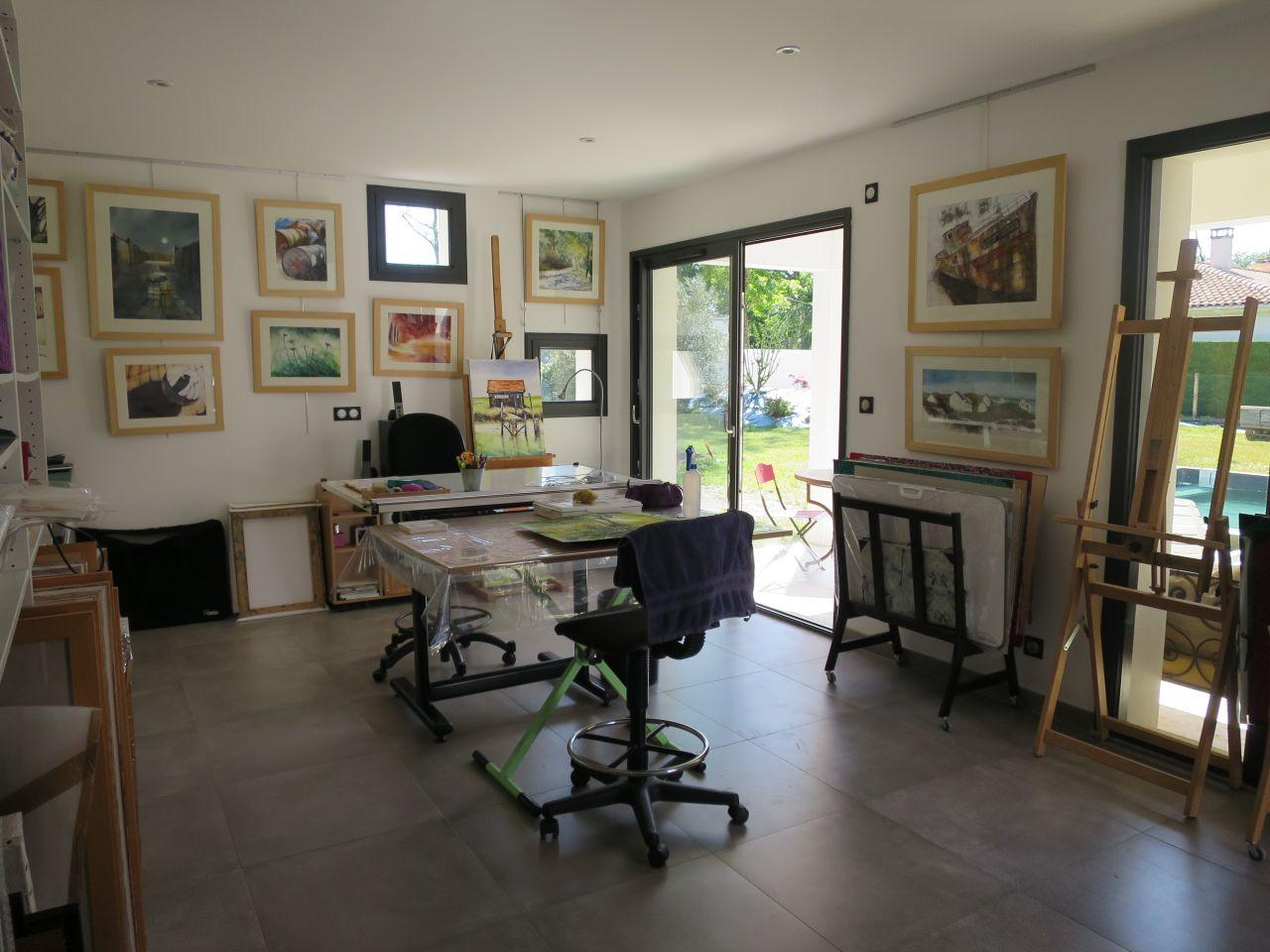 Chambre d'adultes ambiance contemporaine - Breuillet (Charente Maritime - 17) - mai 2016