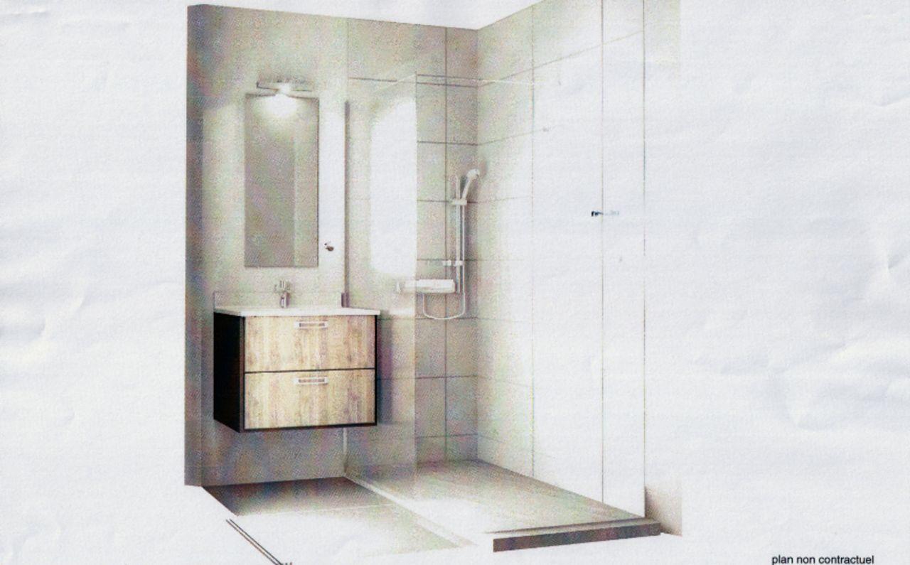 Visuel de la salle de bain du rdc - meuble Mobalpa