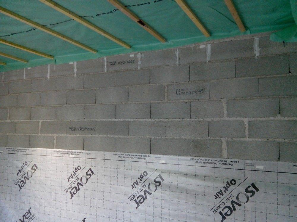 Démarrage de l'étanchéité des murs
