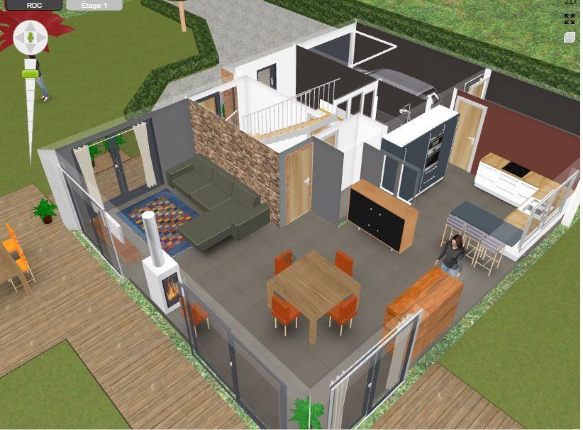 Aménagement intérieur et terrasse