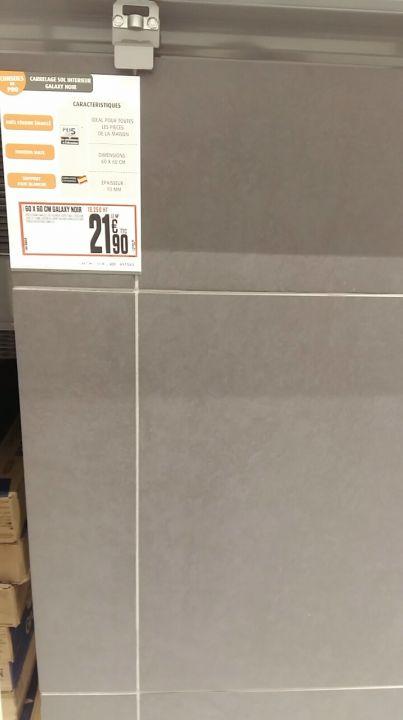 Coloris carrelage rdc, en 60x60